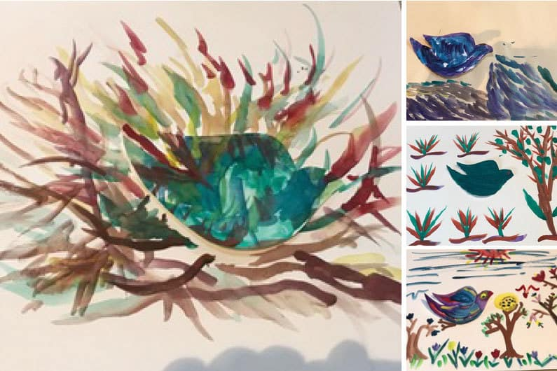 Feelings of Peace for the New Year Inspire The Caregiving Place's Artists Group