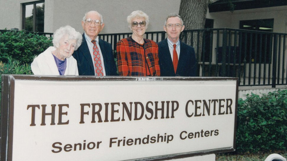 the founders of senior friendship center two women and two men